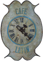One Kings Lane Vintage Vintage Painted Clock Sign Cafe Latin