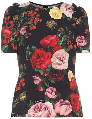 Dolce & Gabbana Floral stretch-cady top