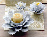 Porcelain Flower Candle Holder