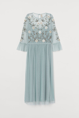 H&M Beaded Dress - Turquoise