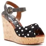 Dolce & Gabbana Polka Dot Knot Cork Wedge Sandal