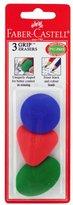 Faber-Castell Triangle Grip Eraser 3/Pkg