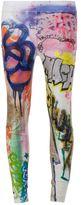 Faith Connexion graffiti print skinny trousers