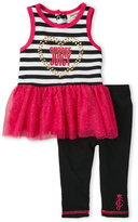 Juicy Couture Infant Girls) Two-Piece Stripe Tutu Tank & Leggings Set