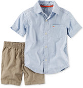 Carter's 2-Pc. Cotton Striped Shirt & Canvas Shorts Set, Baby Boys (0-24 months)