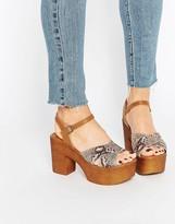 Asos CHECK TOCK Clog Sandals