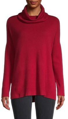 Minnie Rose Audra Cowl-Neck Cashmere-Blend Sweater