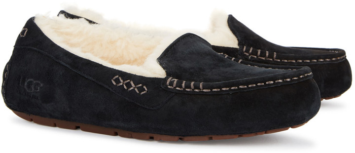 6ce550b7308 Ansley Black Suede Slippers