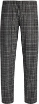 Abstract Check Washington Trouser In Coal