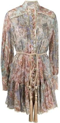 Zimmermann Lucky Bound tassel-waist shirt dress