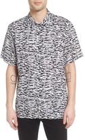 Obey Men's Uproar Print Woven Shirt