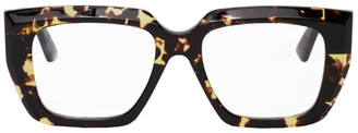 Bottega Veneta Tortoiseshell Angular Glasses