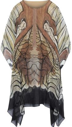 Alberta Ferretti Draped Printed Silk-chiffon Tunic