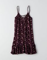 American Eagle Don't Ask Why Lace-Up Ruffle Dress