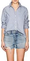 Current/Elliott Women's Striped Cotton Open-Back Shirt