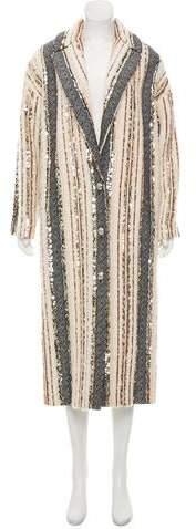Lanvin Wool Embellished Coat w/ Tags
