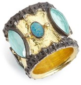 Armenta Women's Old World Semiprecious Stone Cigar Band Ring