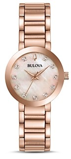 Bulova Modern Diamond Dial Watch, 30mm