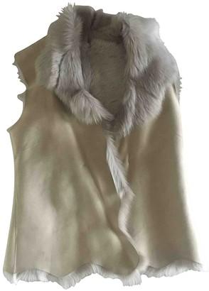 Harrods Beige Shearling Jacket for Women