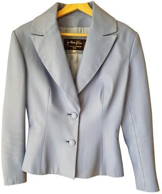 Jitrois Blue Leather Jackets