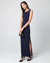 Le Château Embellished Knit Scoop Neck Gown
