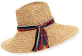 Inverni Kathleen Straw Sun Hat, Light Brown