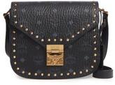 MCM Patricia Studded Shoulder Bag - Black