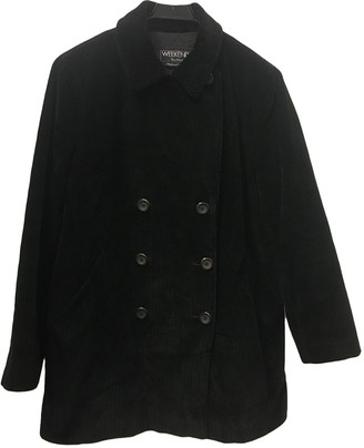 Max Mara Weekend Black Cotton Coat for Women Vintage