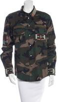 Valentino Beaded Camouflage Jacket