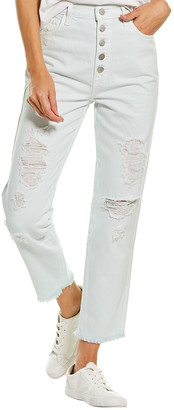 J Brand Heather Hydrosphere Destruct High-Rise Slim Straight Leg Jean