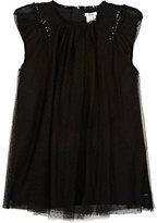 HUGO BOSS EMBELLISHED MESH DRESS-BLACK SIZE 4
