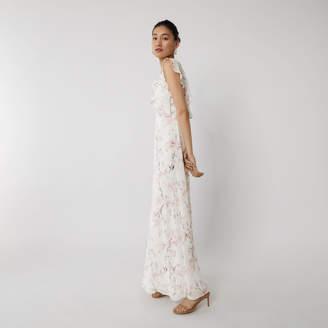 Warehouse FRILL WRAP BRIDESMAID DRESS