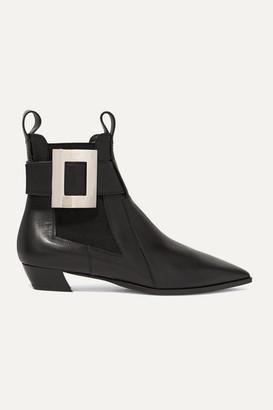 Roger Vivier Dolly Embellished Leather Chelsea Boots - Black