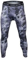 Bifrost Mens Camouflage Sports Running Basketball Camouflage Compression Tight Leggings Pants(Style: Size:S)