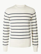 M&S CollectionMarks and Spencer Cotton Rich Striped Jumper