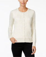 Charter Club Windowpane-Texture Cardigan, Only at Macy's
