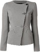 Emporio Armani houndstooth pattern jacket