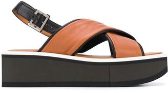 Clergerie Unie 55mm crossover strap sandals
