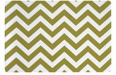 Placemats Washable Table Decor Vinyl Placemats Set of 4 Green Chevron Print