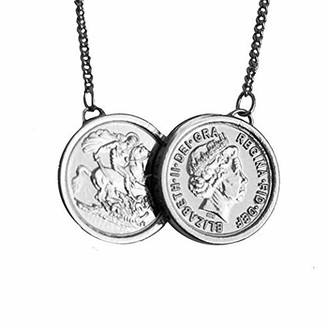 Sparkling Jewellery Women Silver Pendant Necklace of Length 46cm premium-two-coin-silver