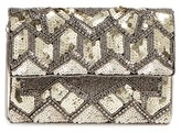 Franchi Sydney Sequin Clutch - Yellow
