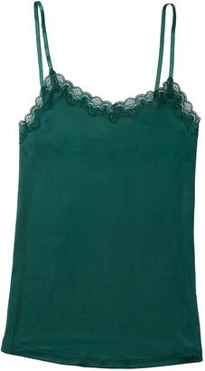 Uwila Warrior Soft Silks Lace-Trim Camisole