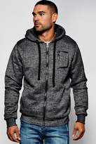 boohoo Zip Through Hoodie With Borg Lining charcoal