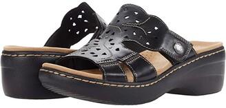 Clarks Merliah Erin (Black Leather) Women's Shoes