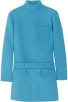 Miu Miu Belted wool-crepe tunic