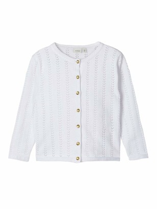 Name It Girl's Nmfhesine Ls Knit Card Cardigan Sweater