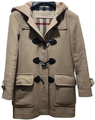 Burberry Brown Wool Coats