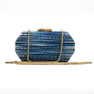 Likhâ Handloomed Clutch Sarsuela Shibori Denim Blue