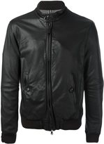 Jacob Cohen zipped leather jacket