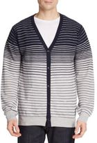 Saks Fifth Avenue Merino Wool Striped Cardigan